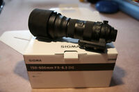 Sigma 150-600mm F 5.6-6.3 DG Sports Telephoto Zoom Lens