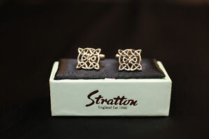 Men's Celtic Filigree Cufflinks by Stratton of England