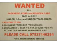 WANTED ALL JAPANESE, FORD and KOREAN CARS