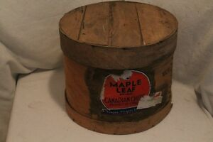 Vintage maple leaf Canadian cheese crate