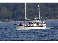 Colvic Watson motor sailor 34 foot 7 berth diesel engine aft masters cabin and in-mast furling ketch