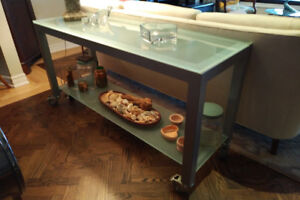 Cool industrial console or sofa table