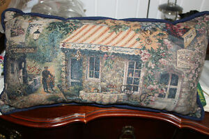 Tapestry Type Fabric Pillow ( new )
