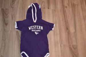Western Mustangs one-piece baby outfit 12-18 months