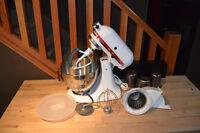 Kitchenaid Classic tilt head mixer and rotor slicer/shredder