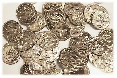 """Aluminum Jingle Coins Belly Dancing Jewelry Craft Costume 18mm ( 11/16"""" ) Silver"""