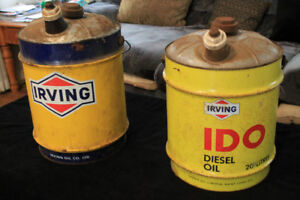 Irving oil cans
