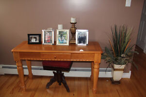 4 PIECE SET COFFEE,  2 END TABLES  SOFA TABLE  SOLID OAK
