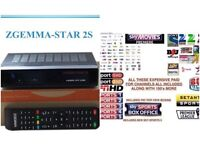 Satellite Box Zgemma Star 2S Twin Tuner + 12 months PPV BOXING,kids,movies,Sports,Asian TV+ Supports