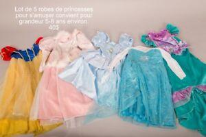 Lot robes de princesses Disney