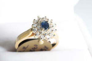 APPRAISED FOR AUTHENTICITY NEW DIAMOND & SAPPHIRE LADY'S RING