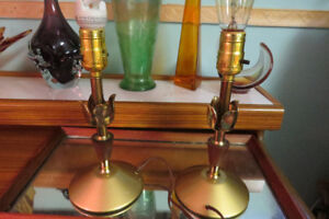 Cute matching set of mid century night table lamps
