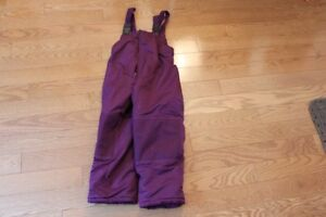 Peluche et Tartine Purple Snowpants (excellent condition) size 6
