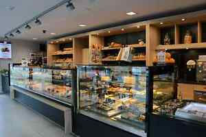 Full line of display cases, pastry bakery gelato deli meat fish