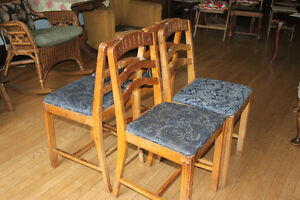 Set of vintage wooden chairs