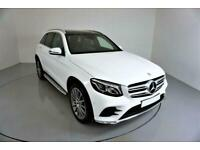 2017 WHITE MERCEDES GLC220D 2.1 AMG LINE PREMIUM 4MATIC CAR FINANCE FR £434 PCM
