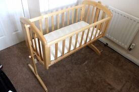Baby Swinging Wooden Crib - Excellent Condition
