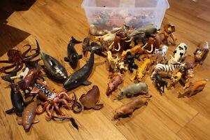 Lot d'animaux variés en plastique Planet