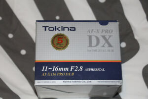 Tokina AT-X PRO DX 11-16mm F2.8 Lens