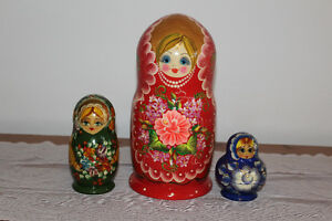 RUSSIAN NESTING DOLLS COLLECTION :  ( read whole ad )