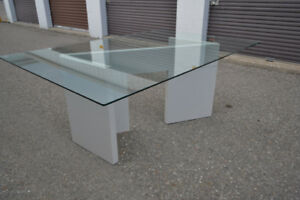 (FREE DELIVERY) - BEAUTIFUL GLASS DINING TABLE ONLY $299!!!
