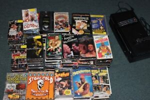 118 WWF - WWE - WCW VHS Tapes