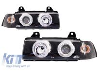 Angel Eyes Headlights BMW 3er E36 2D Coupe/Cabrio 92-97 Head Lamps