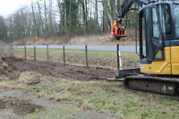 Excavation and bobcat services, post pounding, property clean up