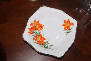 New Prairie Lily China Dish ( candy or peanuts or pickles )