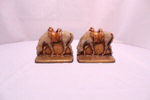 VTG Americana Cast Iron Western Saddle Cowboy Horse Bookends