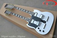"""Left Handed """"Gibson"""" Double Neck Copy: upgraded pickups+hardware"""