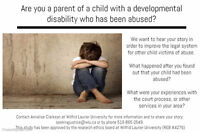 """""""Seeking Justice for Child Abuse Victims with Developmental, Cog"""