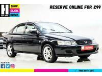 2002 Honda Accord 1.8 i-VTEC Sport 5dr Hatchback Petrol Manual
