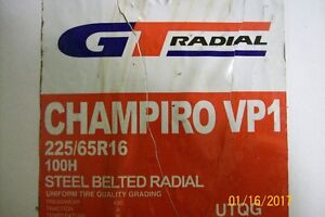 P225/65R16  NEW GT RADIAL CHAMPIRO  VP1 TIRES
