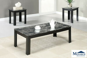 Brand NEW Black Marble 3PC Coffee Table Set! Call 613-389-6664!