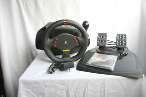 MOMO Force Feedback Steering Wheel and Pedals