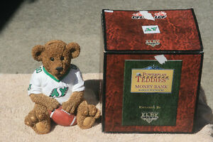 Saskatchewan Roughriders Powerplay Teddies Bear bank