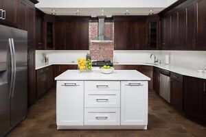 Espresso solid wood kitchen cabinetry blowout !We beat any price