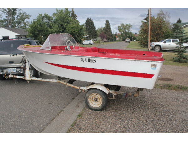 Used 1977 Other K&C Thermoglass14 foot boat with trailer