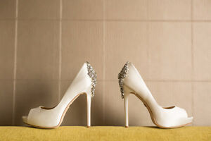 Wedding shoes - Size 8 BADGLEY MISCHKA Kiara Satin Platform Pump Cambridge Kitchener Area image 3