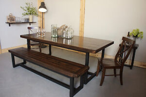 Reclaimed Wood & Iron Dining Table By LIKEN Woodworks
