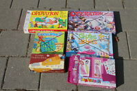 Board Games (Princess Tracer, Operation, Card Shoe)
