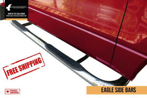 "Stainless Steel Step Bars 3"" - Ford Dodge GM Chev FREE SHIPPING!"