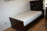 BOOKCASE STORAGE YOUTH BED WITH MATTRESS