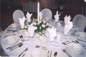 High quality Stain Resistant Tablecloths Tableskirts& Napkins