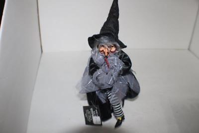 NEW Black GANZ Halloween Animated Laughing Witch Eyes Light Up Red Kicks Loud](Halloween Witch Laughing)