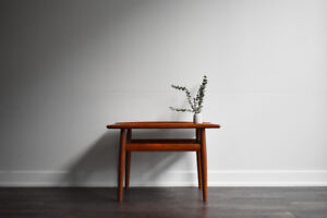SOLD - Pair of Mid Century Teak Side Tables by Grete Jalk