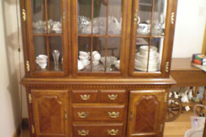 CHINA CABINET 2 piece, great condition