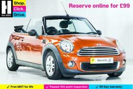 image for 2012 MINI Convertible 1.6 One (Pepper) 2dr Convertible Petrol Manual