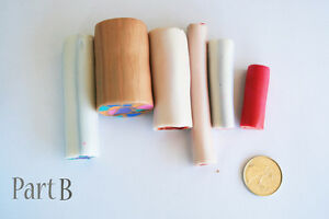 6 original unbaked polymer clay canes made by artist Kitchener / Waterloo Kitchener Area image 1
